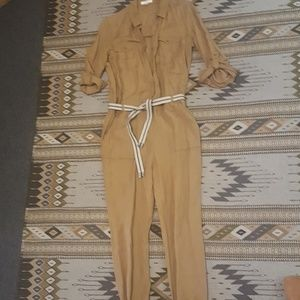 Brown linen Jumpsuit size small